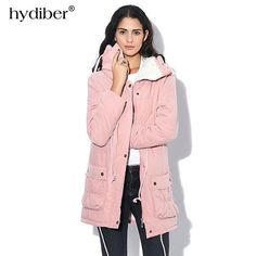 32cf80ca657e New 2018 Winter Coat Women military Outwear Medium-Long Wadded Hooded snow  Parka thickness Cotton