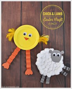 While looking for Easter crafts for the boys, we stumbled upon this adorable paper plate baby chick. We loved that little guy so much we decided to make him a lamb friend! We think anything with go...