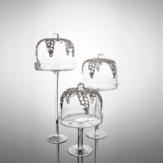 3 Pc Glass Bell Jar Set available on Wysada.com