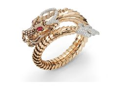 Roberto Coin - yellow gold with rubies and diamonds