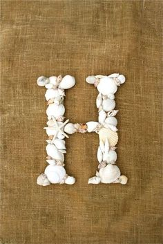 Sea Shell Covered 12 Inch Wedding Initial Letter by SpottedLeopard, $40.00