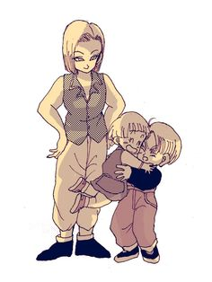 Android 18, Marron, and Trunks