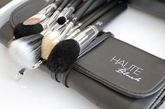 Makeup Brushes - 11 Piece Black Makeup Brush Set - Leather Casing - Best Makeup Brush - Professional Brushes - Comparable to MAC Brushes - Best Quality - Guarantee Money Back