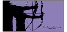 """A Clint Barton / Kate Bishop Comic Book"" from Hawkeye #22"