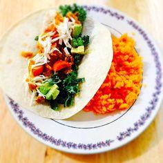 レシピとお料理がひらめくSnapDish - 17件のもぐもぐ - Chicken Taco with Yellow Rice by http://melissasmenu.wordpress.com/