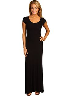 BCBG Maxazria black maxi - think I would wear this everyday if I was pregant. can change it up with cardigans and bold necklaces