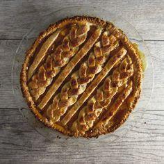 Braided pie top crust design.