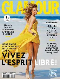 Glamour France July 2015 Cover   Elisabeth Erm by Sam Hendel for Glamour France July 2015.   styloko.com