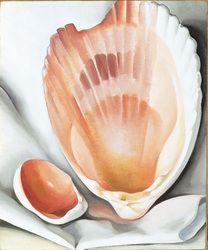 Georiga O'Keeffe: Two Pink Shells / Pink Shell, 1937 Georgia O'Keeffe Museum Georgia O'keeffe, Georgia On My Mind, Savannah Georgia, Alfred Stieglitz, Wisconsin, Santa Fe, Georgia O Keeffe Paintings, Seashell Painting, Seashell Art