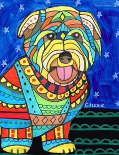 50% Off- Glen of Imaal Terrier art dog Art Print Poster by Heather Galler (HG481)
