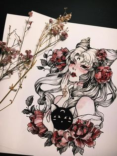 Sailor Moon Fan Art by PeiTheDragon x / x / x / x x / x / x / x Inspiration Art, Art Inspo, Arte Tim Burton, Art Sketches, Art Drawings, Sailor Moon Art, Sailor Mars, Sailor Neptune, Sailor Venus