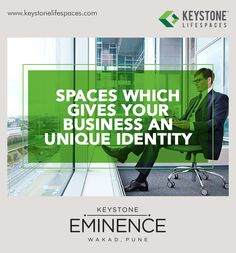 Keystone Eminence - Spaces which gives your business an unique idenity www.keystonelifespaces.com #wakad #commercial #Office #Industry