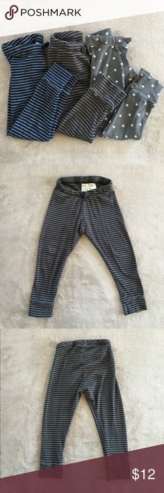 H&M Pattern Leggings (3 in a bundle) H&M pattern leggings. Navy and white stripes, dark grey and white stripes, and grey and white stars. Great condition. H&M Bottoms Casual