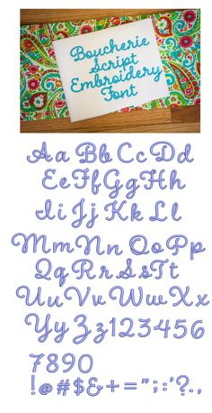 368 Best embroidery fonts alphabets and numbers images in 2019