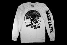 Universal Brotherhood Longsleeve T-Shirt On White | Major Lazer | Online Store, Apparel, Merchandise & More