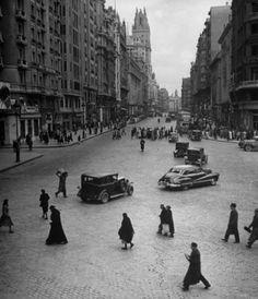 """En el año 1945 la gente cruzaba la Gran Vía """"como Pedro por su casa"""""""