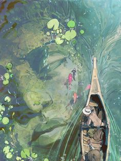 ArtStation - Beneath Lilies , Vanessa Palmer in 2020 Pretty Art, Cute Art, Illustration Pop Art, Illustrations Posters, Fantasy Art Landscapes, Fantasy Artwork, Fantasy Concept Art, Landscape Art, Arte Sketchbook