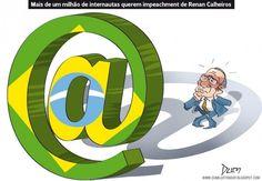Mais de 1 milhão de assinaturas por impeachment de Renan