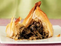Jean-Christophe Novellis Strudel of Roast Portabello Mushroom with Fondue of Beaufort Cheese Stuffed Portabello Mushrooms, Jacques Pepin Recipes, Wiener Schnitzel, Fondue Recipes, Chef Recipes, Fried Vegetables, Fries In The Oven, Recipes