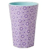 Rice Melamine Two Tone Latte Cup with Lavender and White Marrakesh Print Home Design, Danish Interior Design, Outdoor Dinnerware, Moroccan Print, Latte Cups, Latte Macchiato, Shades Of Purple, Outdoor Dining, Pink And Green