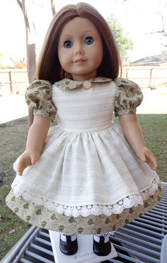 18 Doll Clothes Pretty Party Dress With Pinafore by Designed4Dolls