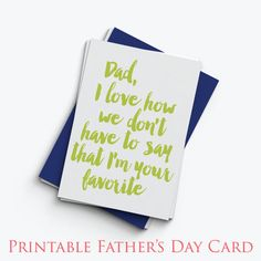 Printable Father's Day Card with Envelope Pattern door Simplicity18