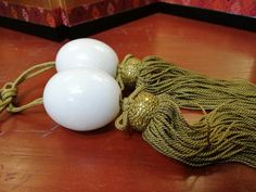 Japanese Vintage White Marble Stone Fuchin Scroll Weight With Golden Tassel Japanese Calligraphy, Marble Stones, Vintage Japanese, White Marble, Tassels, Chinese, Handmade, Etsy, Hand Made