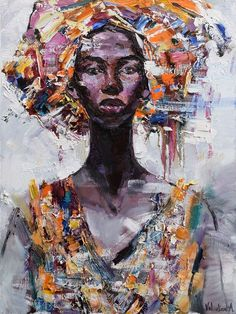 Buy African Queen portrait painting #3 - Original oil painting, Oil painting by Anastasiya Valiulina on Artfinder. Discover thousands of other original paintings, prints, sculptures and photography from independent artists.