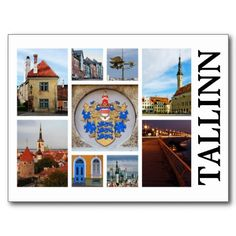 Get your hands on a customizable Tallinn postcard from Zazzle. Find a large selection of sizes and shapes for your postcard needs! Thank You Cards, Postcards, Places To Go, Traveling, Collage, City, Color, Appreciation Cards, Viajes