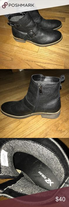Mens X-Ray Biker Boots Only worn a couple times. Leather is in great condition. Very comfortable shoe. X-Ray Shoes Boots