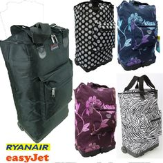 Hand luggage Lightweight Trolley Holdall Cabin bag on wheels Ryanair Easyjet