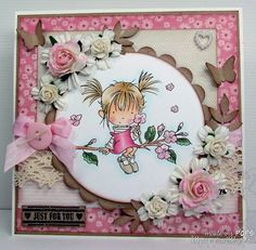 Lili card-- another pink card with Blossum!