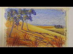 Pastel painting course- Simple Landscape part 2 - YouTube