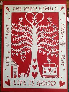 Paper cut family tree