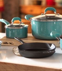 Give yourself a colorful kitchen refresh! You're going love the new Pioneer Woman cookware and dinnerware collection, only available at Walmart. Includes beautiful items from Ree Drummond that are easy to mix and match as well as must-have classics like a cast iron skillet and a Dutch oven. Check out the full line now available at http://www.walmart.com/thepioneerwoman and in your store.