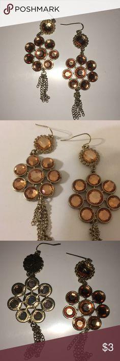 Orange Gem Earrings Beautiful copper earrings from Target! Great condition Jewelry Earrings