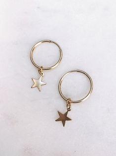 Delicate star earrings