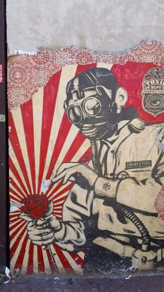 Shepard Fairey graffiti in D.C., photo by Sam Mullany Are you an artist? Are you looking for one? Find a business OPPORTUNITY as an artist!!! Join b-uncut, the Art Exchange art.blurgroup.com Like graffiti art and street art? check https://www.etsy.com/shop/urbanNYCdesigns?ref=hdr_shop_menu #graffiti #streetart