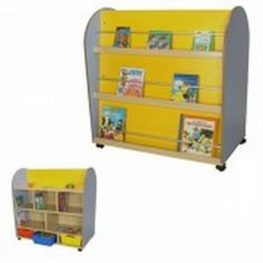 Mueble infantil expositor de libros ovalado. Expositor de libros accesible por las dos caras.  http://www.segurbaby.com/es/180336/mueble-infantil-expositor-de-libros-ovalado.htm