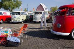 VW Split Bus Camping, Vintage T1 MaiKäferTreffen Hannover Germany 2013