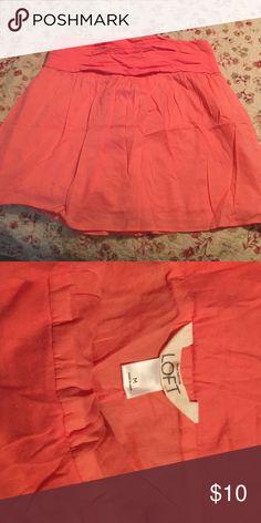 Ann Taylor Loft size medium skirt Elastic waist cotton Ann Taylor Loft skirt coral LOFT Skirts Mini