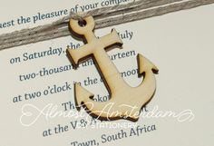 Wooden Anchor Cutouts  Anchor Embellishments  by AlmostAmsterdam