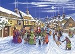 This jigsaw features a village scene at Christmas, all gathered in the snow covered streets selebrating. A limited edition puzzle so even more reason to try the challenge of this puzzle where there are 20 special Christmas icons hidden in the image. A large picture is included. One of only 2000 being printed.