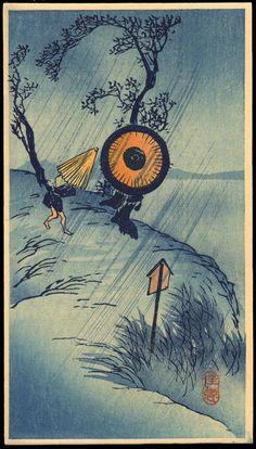 Shotei, Takahashi (1871-1945) - Rainstorm