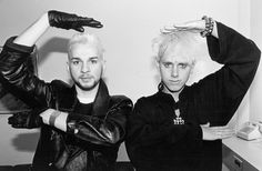 Dave Gahan + Martin Gore doing Vogue. :D