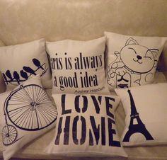 Almohadones Estampados con vinilo Scatter Cushions, Throw Pillows, Mundo Hippie, Pinterest Crafts, Flower Pillow, Batik, Burlap Crafts, Fabric Painting, Decorative Pillows