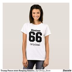 Trump Pence 2020 Keeping America Great T-Shirt - Fashionable Women's Shirts By Creative Talented Graphic Designers - #shirts #tshirts #fashion #apparel #clothes #clothing #design #designer #fashiondesigner #style #trends #bargain #sale #shopping - Comfy casual and loose fitting long-sleeve heavyweight shirt is stylish and warm addition to anyone's wardrobe - This design is made from 6.0 oz pre-shrunk 100% cotton it wears well on anyone - The garment is double-needle stitched at the bottom…
