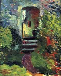 The Little Gate of the Old Mill - Henri Matisse. I don't care much for Matisse, but this is nice. Henri Matisse, Matisse Kunst, Matisse Art, Raoul Dufy, Matisse Pinturas, Matisse Paintings, Post Impressionism, Paul Gauguin, Pablo Picasso