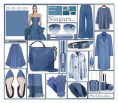 Pantone Fashion Color Report Spring - summer 2017 - Niagara.. by parizhanka-13 on Polyvore featuring polyvore fashion style Winser London WithChic Steve J & Yoni P Lucky Brand Christian Dior Isotoner C-LECTIVE Halogen Forzieri Benefit Clinique Lancôme Vapour Organic Beauty Essie clothing
