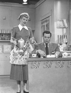 Lucy  Desi, I Love Lucy production still
